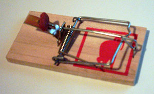 Spring-Loaded Bar Mouse Trap